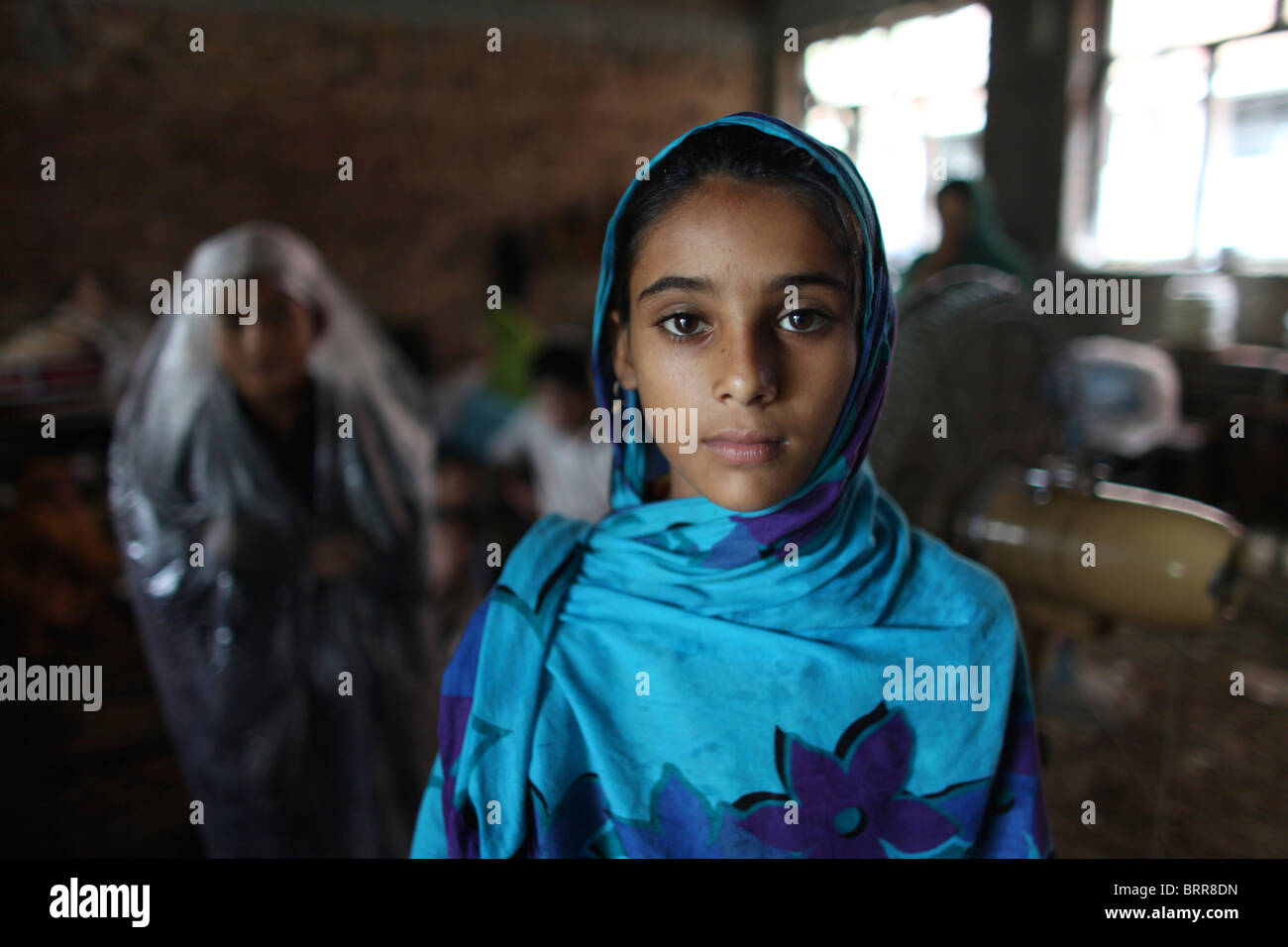 Victims of severe floods in Pakistan (2010) - Stock Image