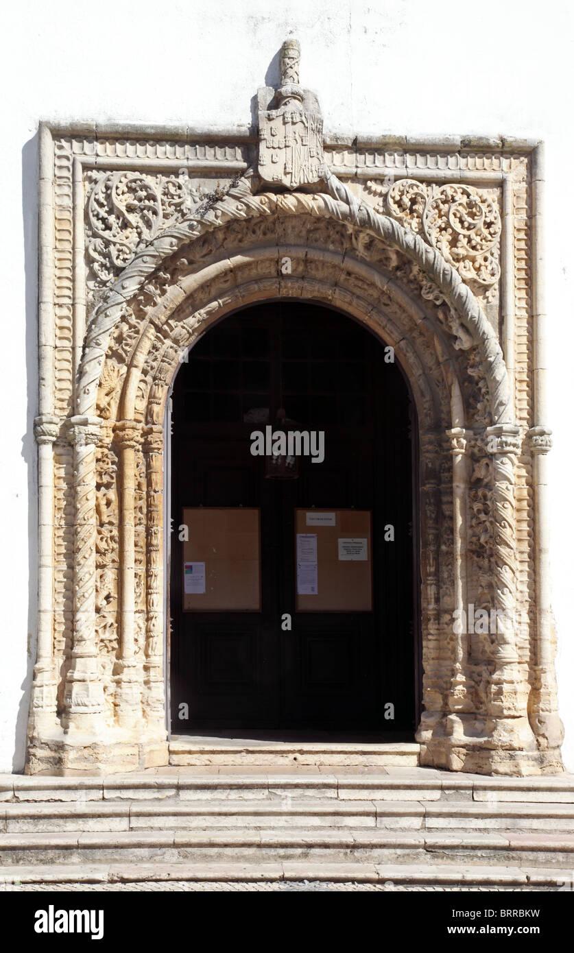 Manueline architecture, Torres Vedras, Portugal - Stock Image