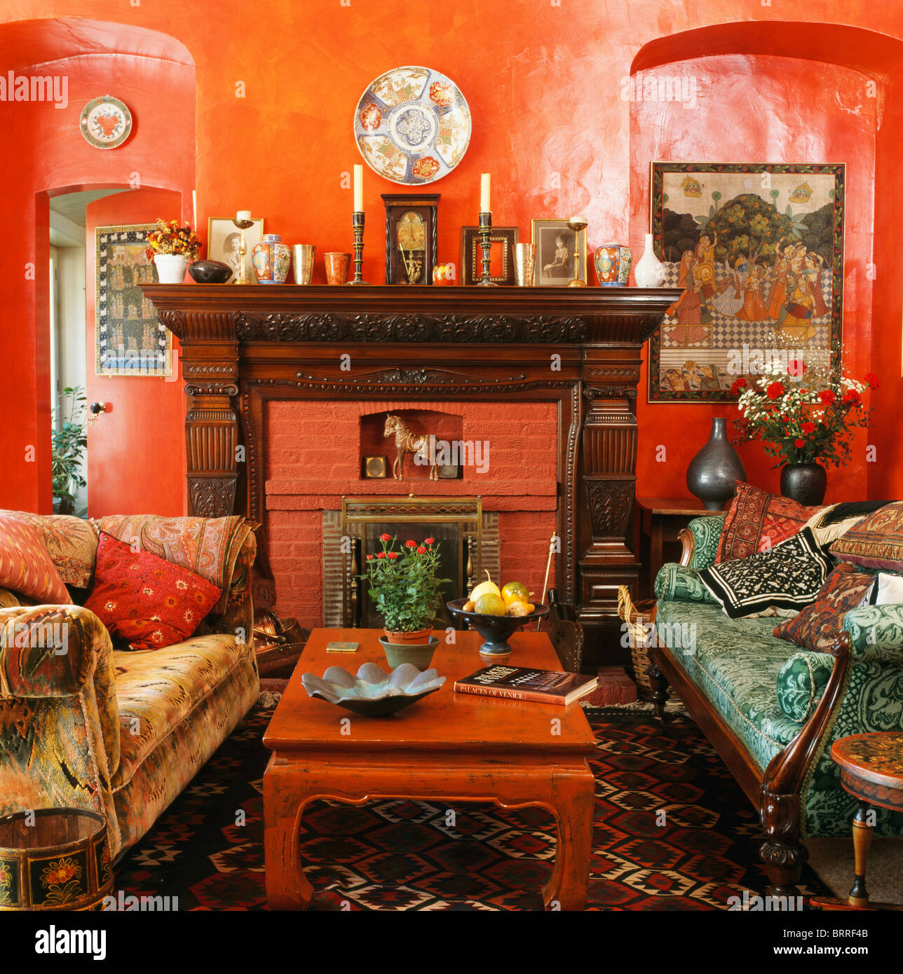 Alcoves On Either Side Fireplace Stock Photos & Alcoves On ...