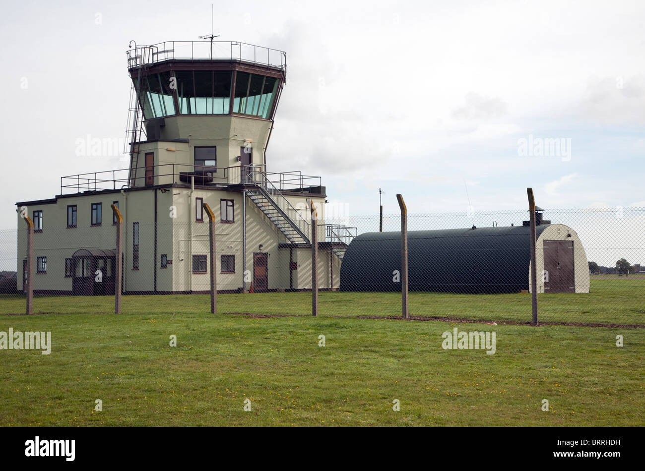 Control tower Former USAF RAF Bentwaters base, Suffolk, England - Stock Image