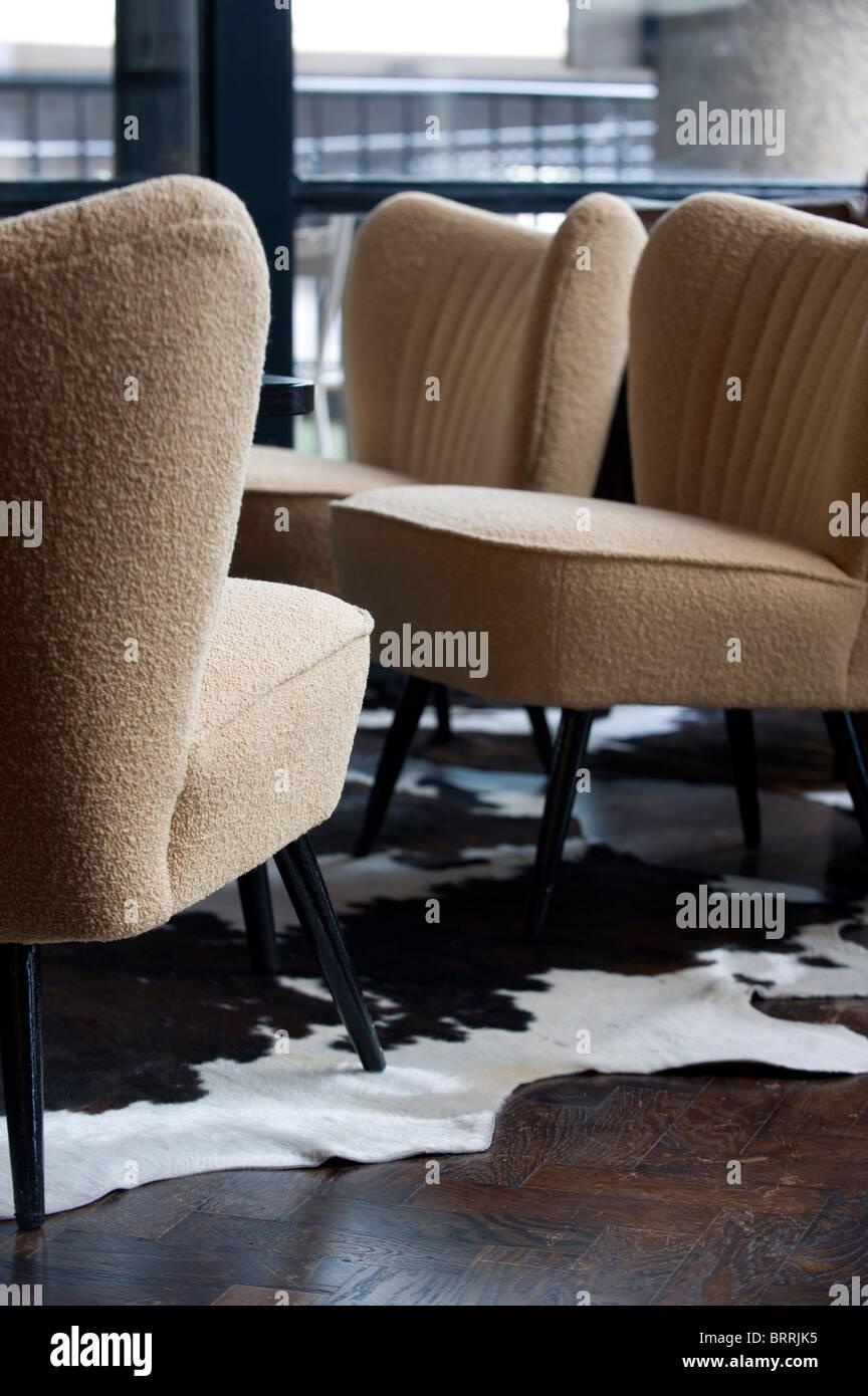 Restaurant seating area - Stock Image