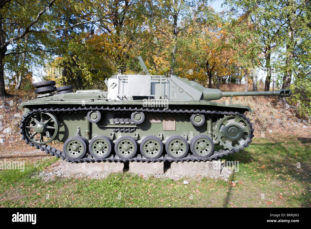 STU-40 tank on display in Lappeenranta Finland - Stock Image