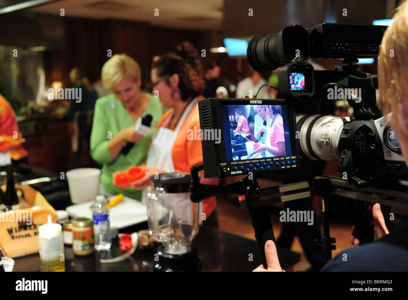 USA New York Canandaigua NY Finger Lakes Region - New York Wine and Culinary Center cooking contest television media - Stock Image