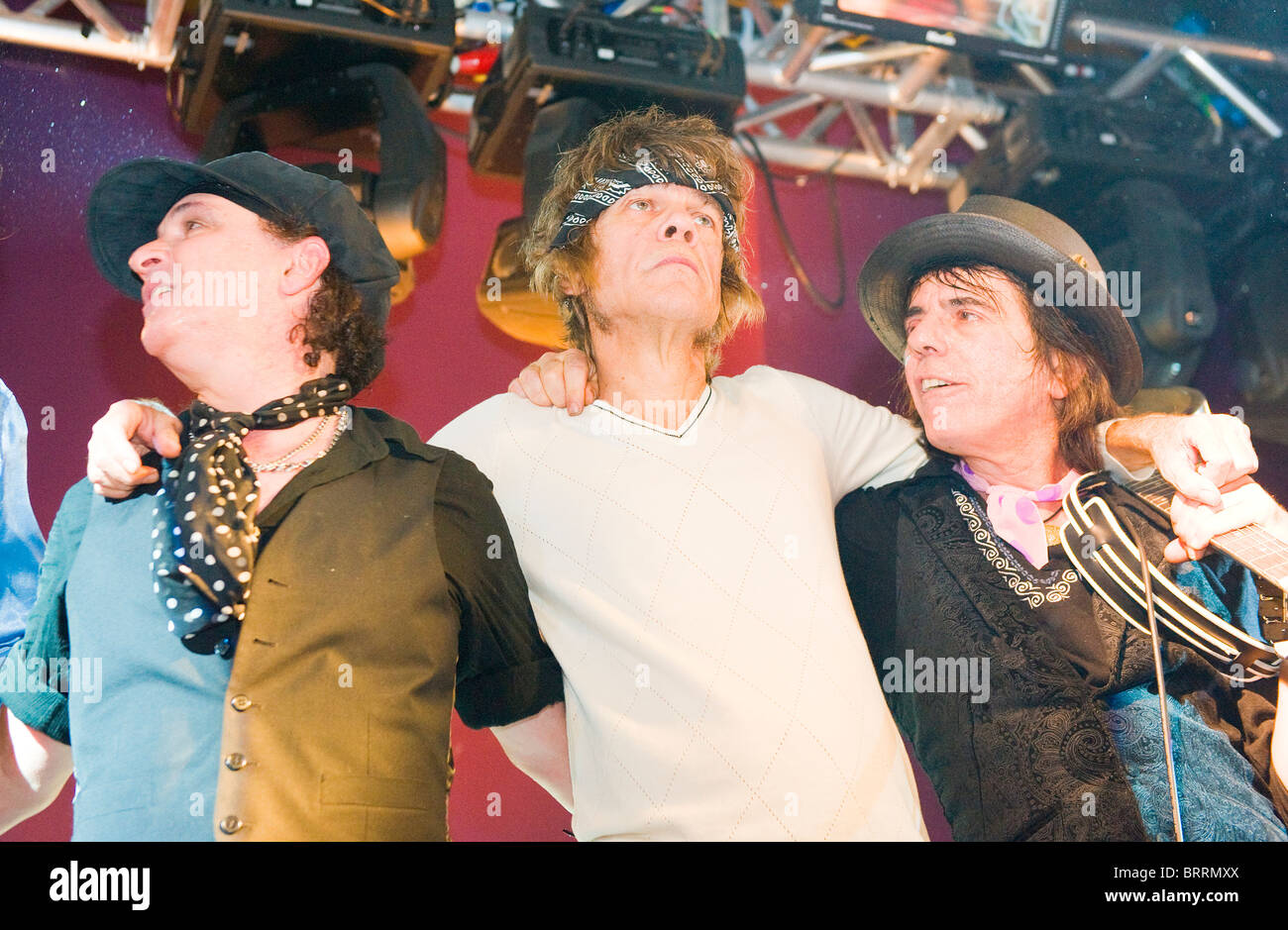 The New York Dolls Live Concert , Silvain Silvain and David Johansen - Stock Image
