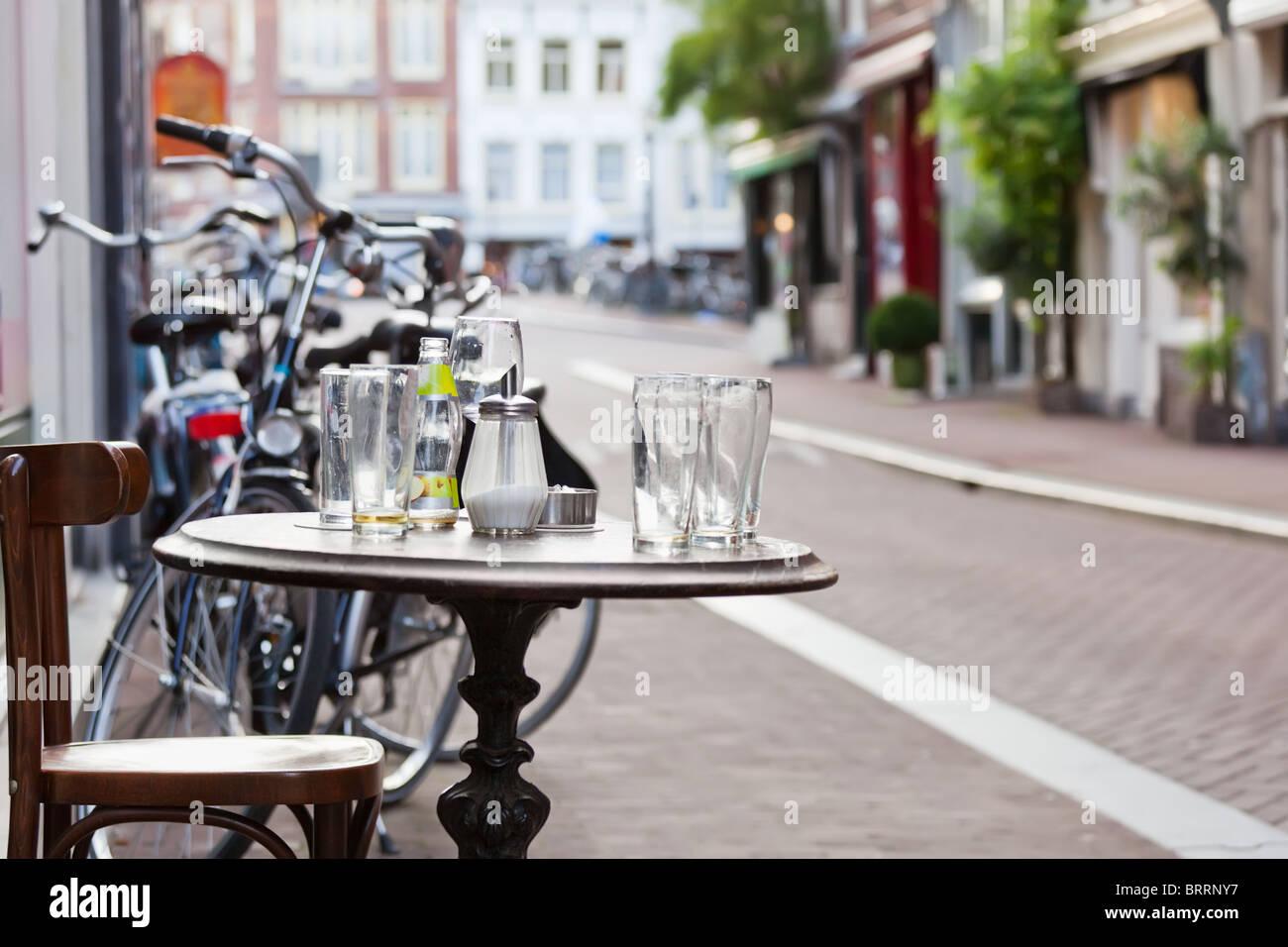 The street scene in Amsterdam - Stock Image