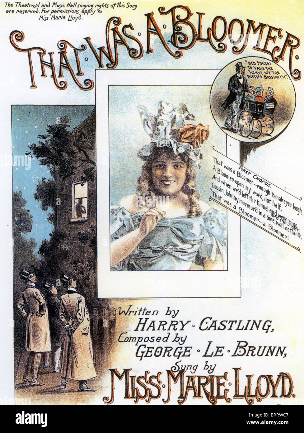 MARIE LLOYD (1870-1922) Sheet music for her song That Was A Bloomer about 1895 - Stock Image