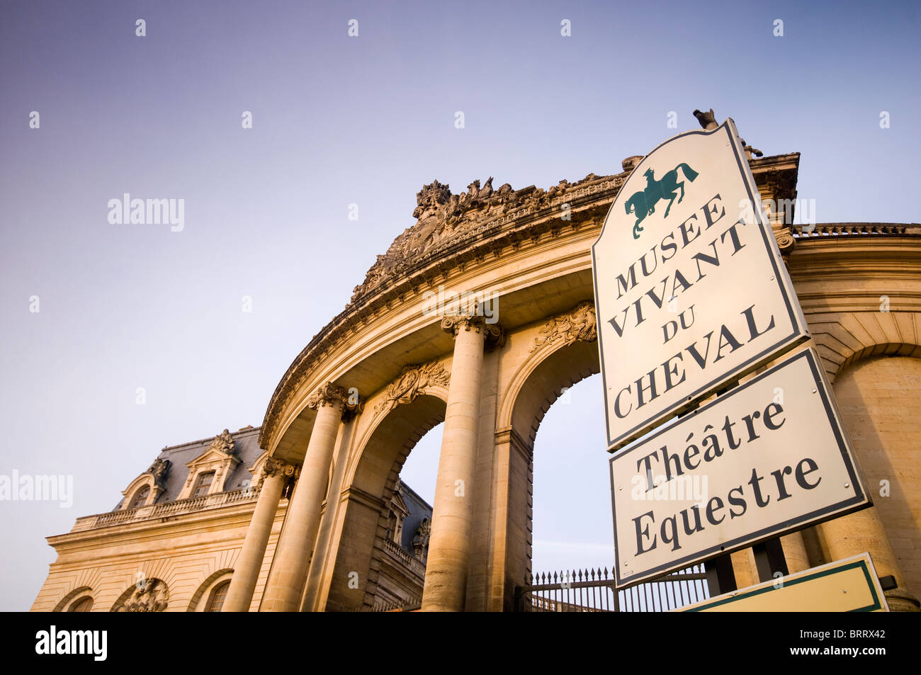 The Living Horse Museum and Grand Stables at Chantilly in France - Stock Image