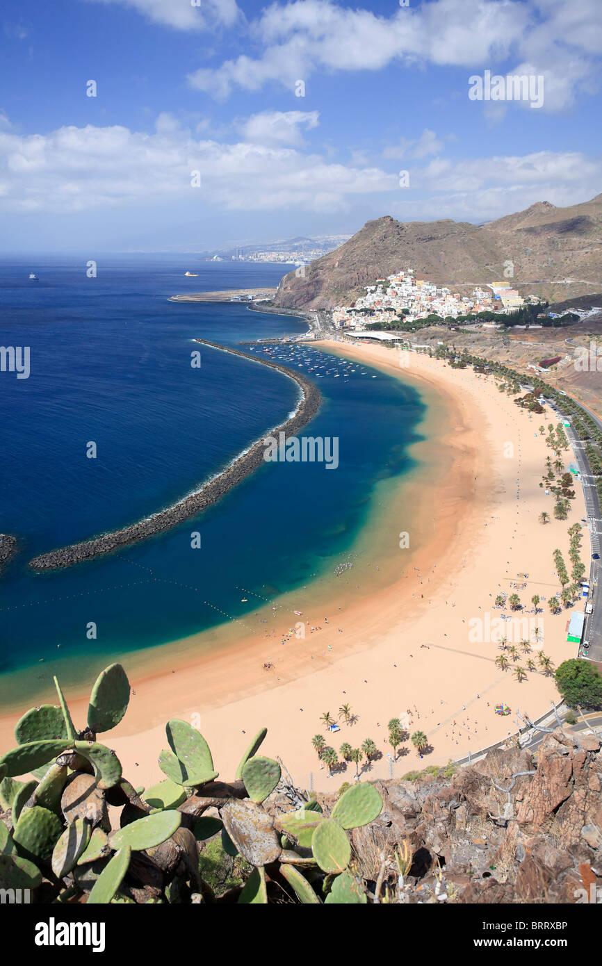 Canary Islands, Tenerife, Playa de Las Teresitas - Stock Image