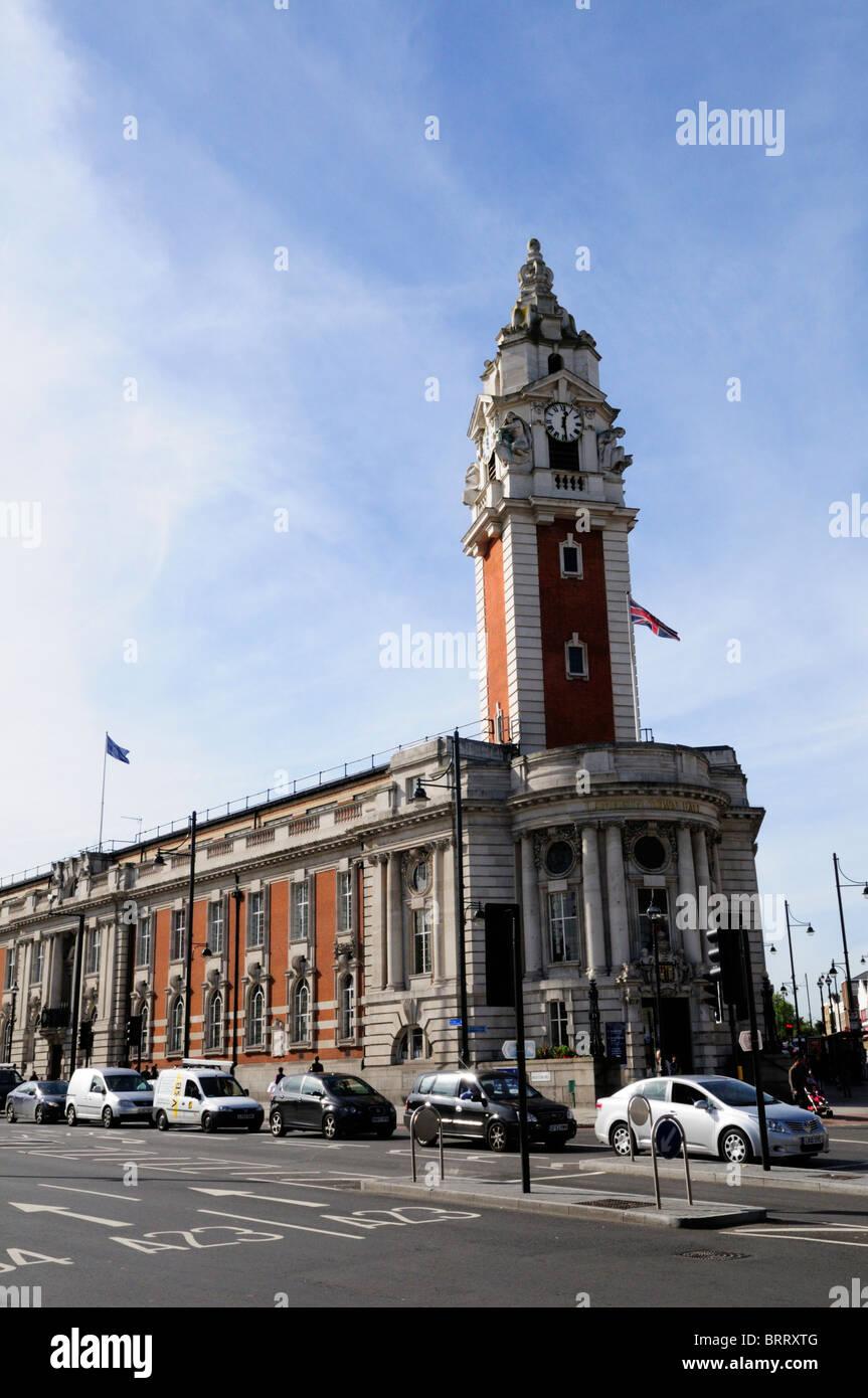 Lambeth Town Hall, Brixton, London, England, UK - Stock Image