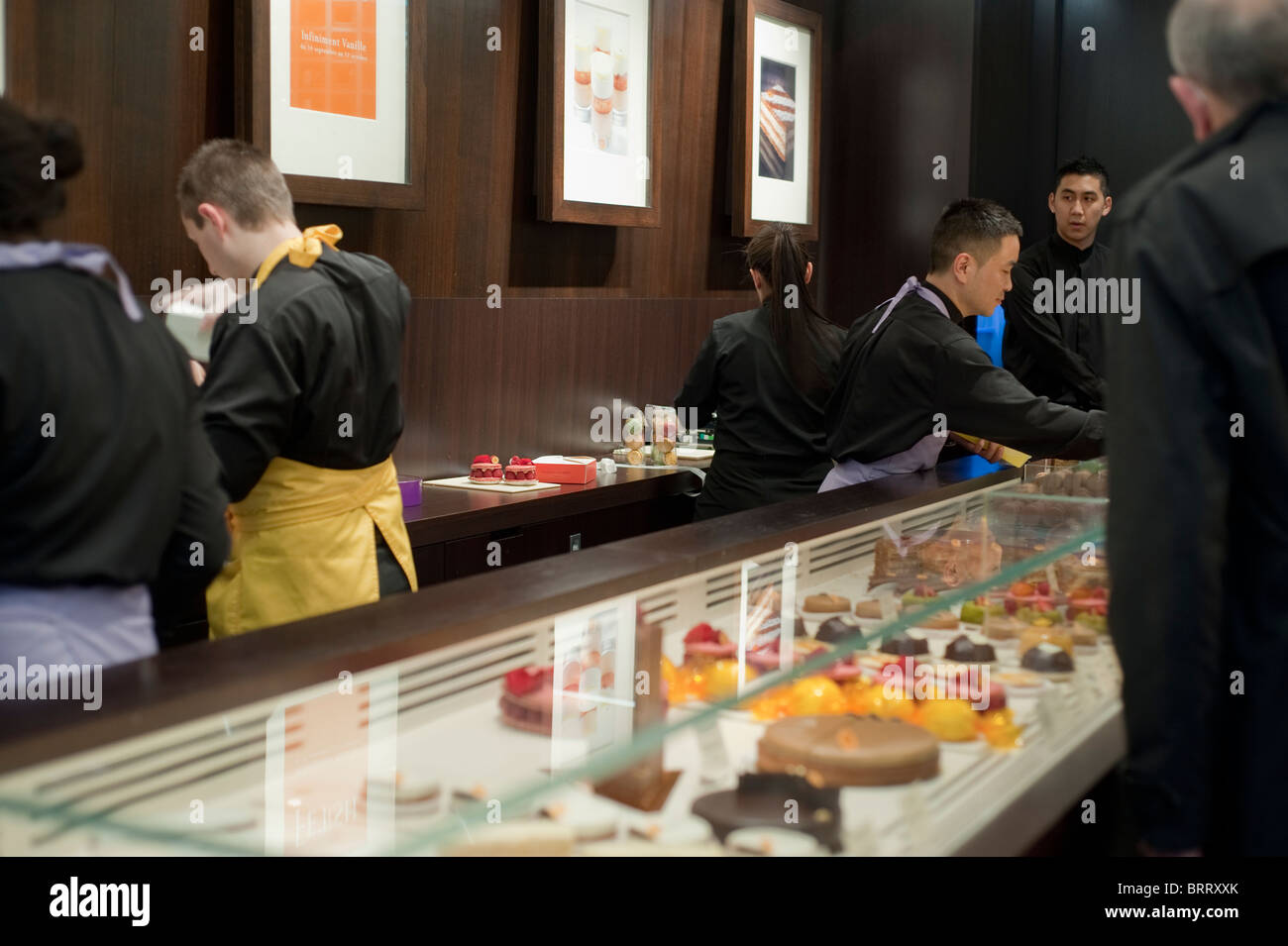 Paris, France, People Shopping in Luxury Chocolate Shop, Patisserie Desserts 'Pierre Hermé' French - Stock Image