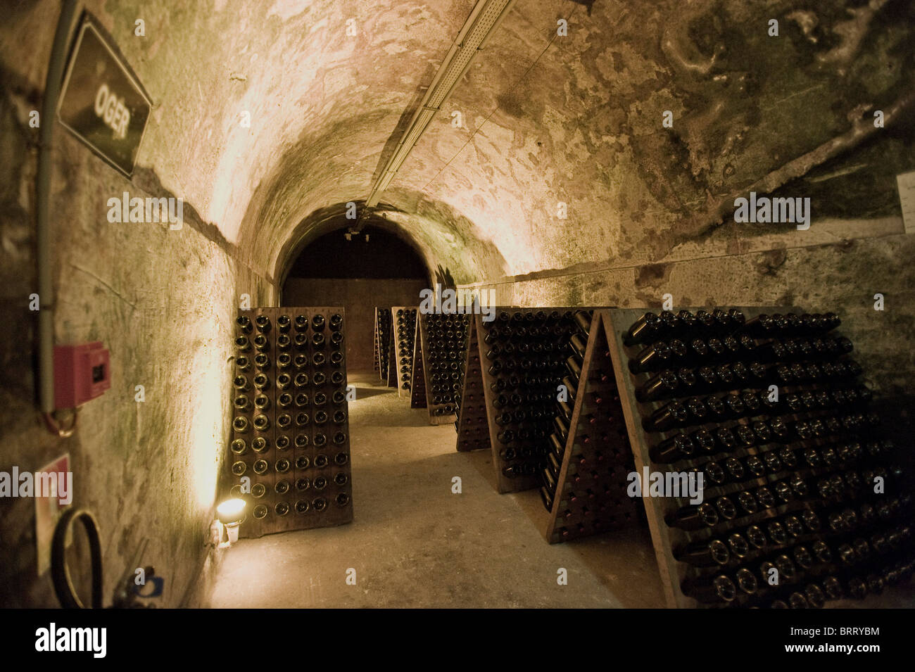 Mumm Champagne cellar, Reims, Champagne-Ardennes, France - Stock Image