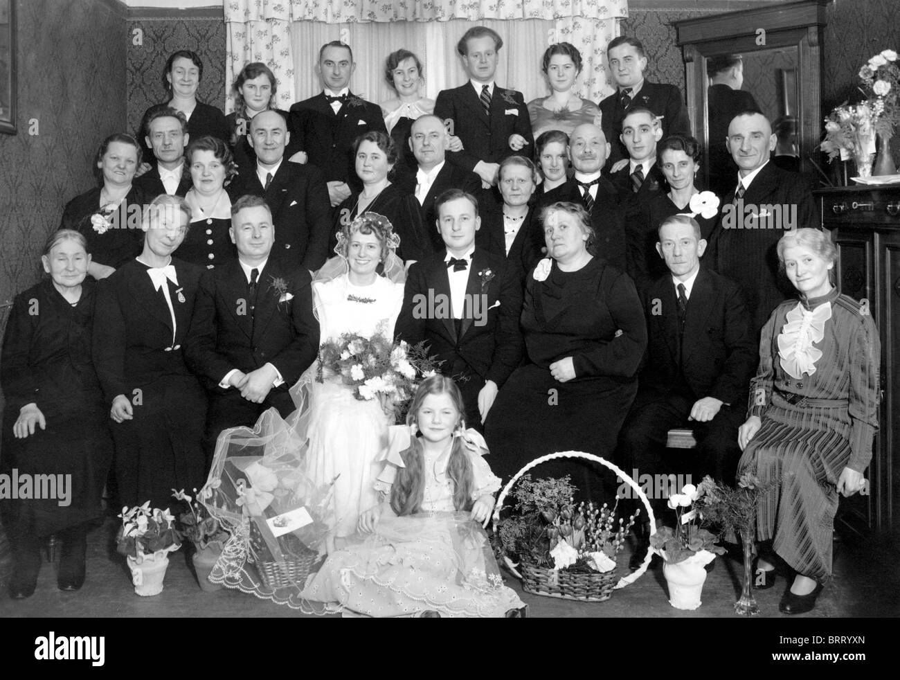 Wedding, historic photograph, around 1930 - Stock Image