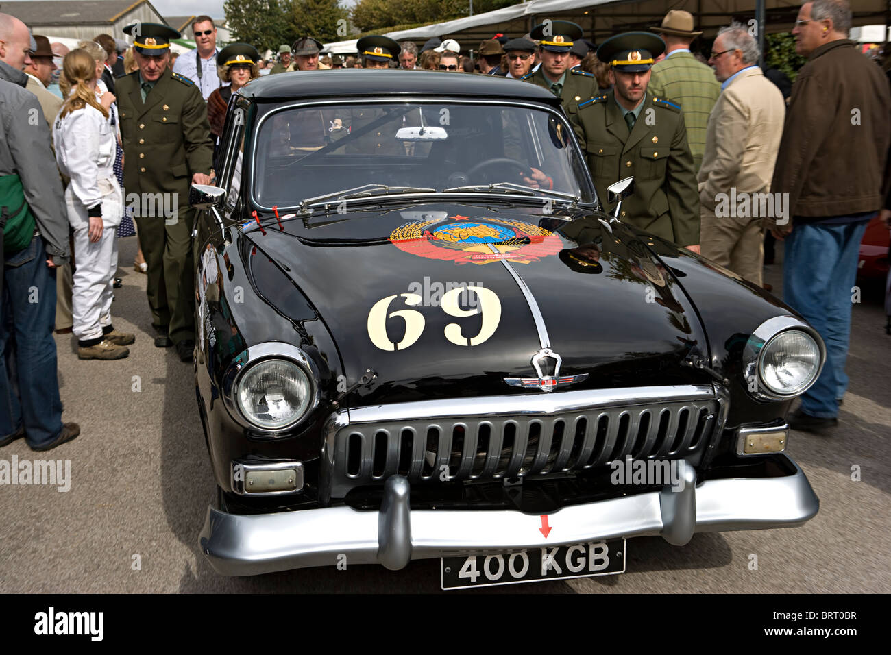 GAZ Volga MA21 car with KGB at Goodwood Revival 2010 Stock Photo