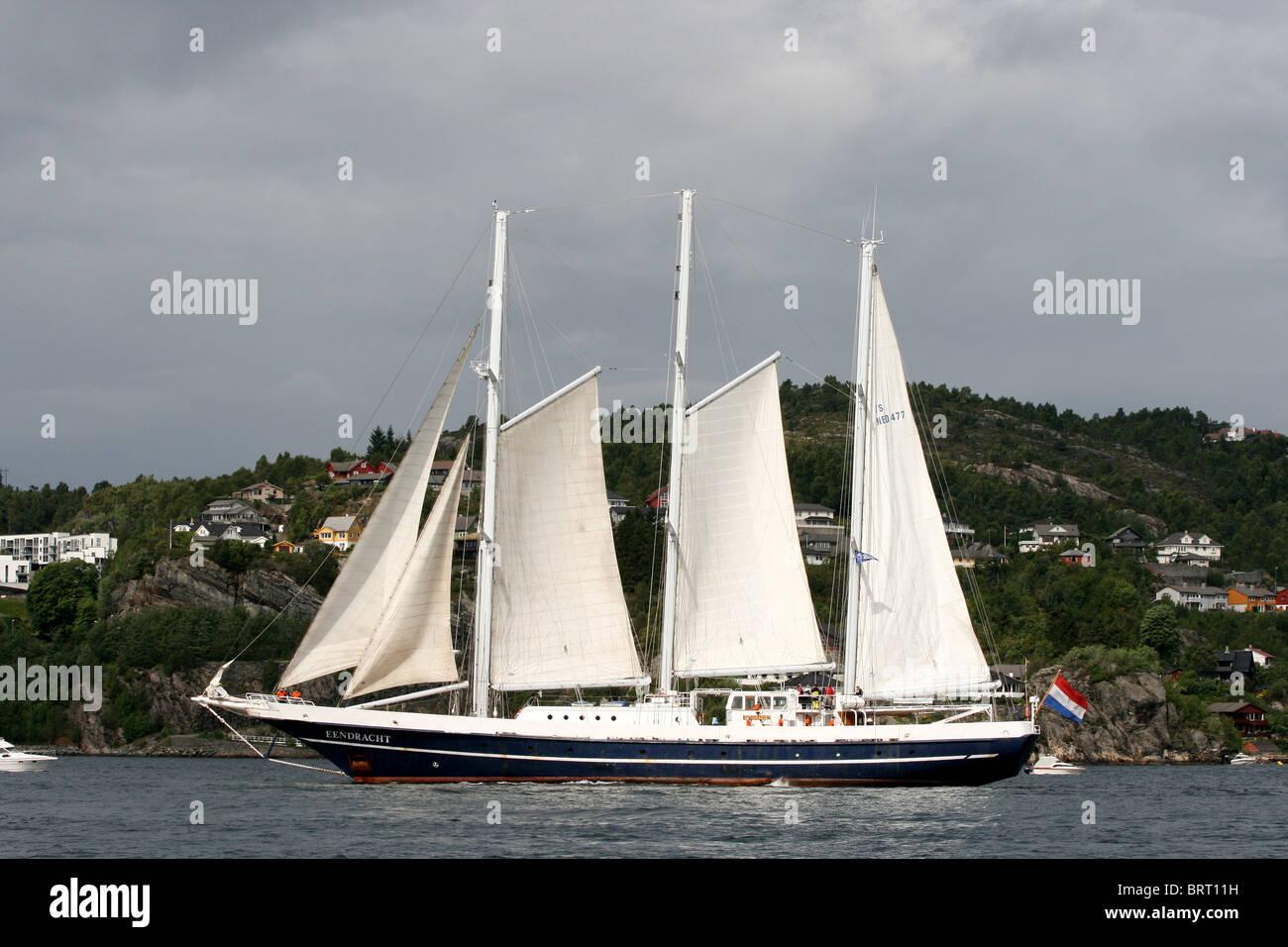 Eenderacht, The Tall Ships Races 2008, Bergen - Stock Image