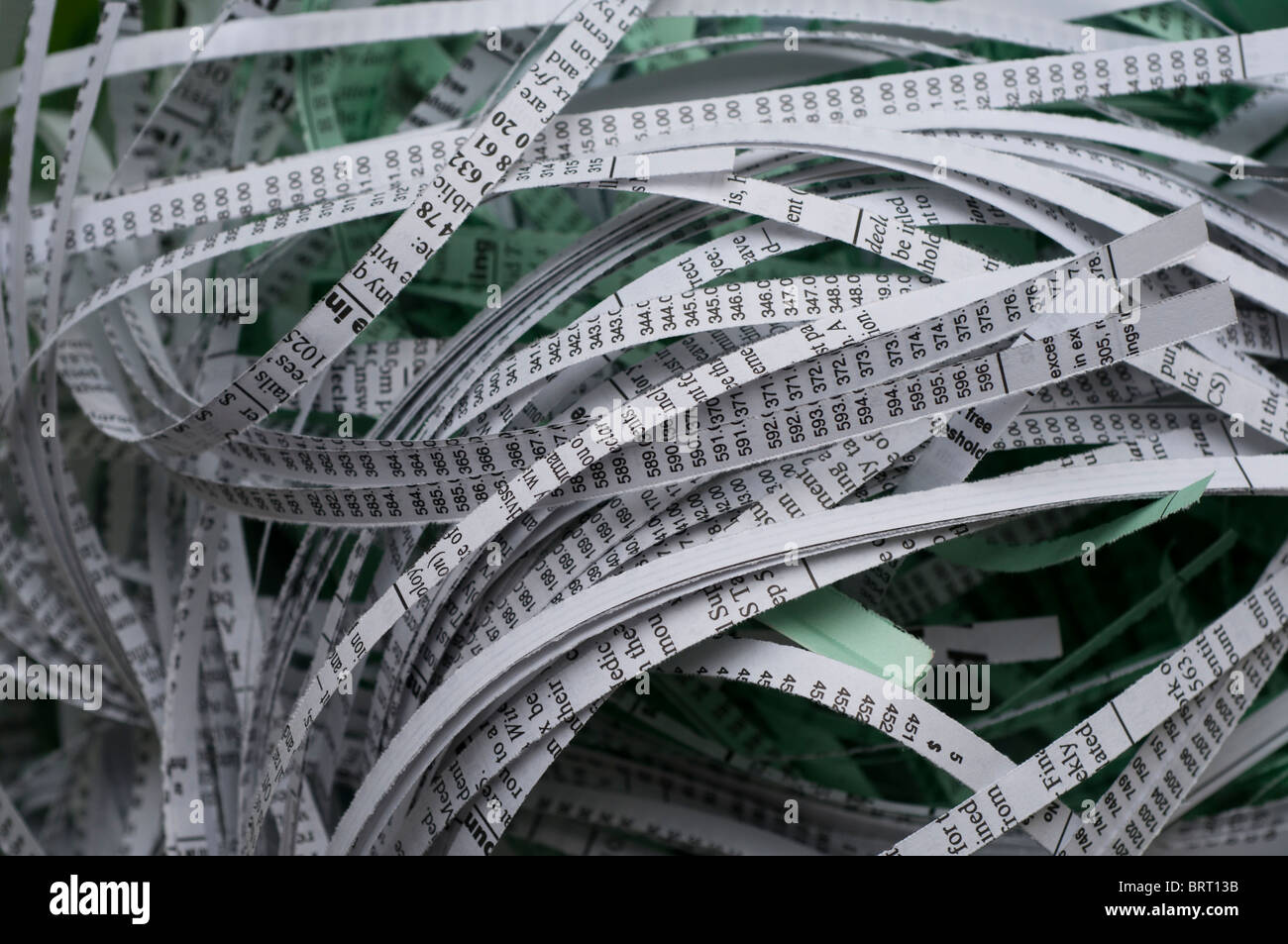 Shredded documents - Stock Image