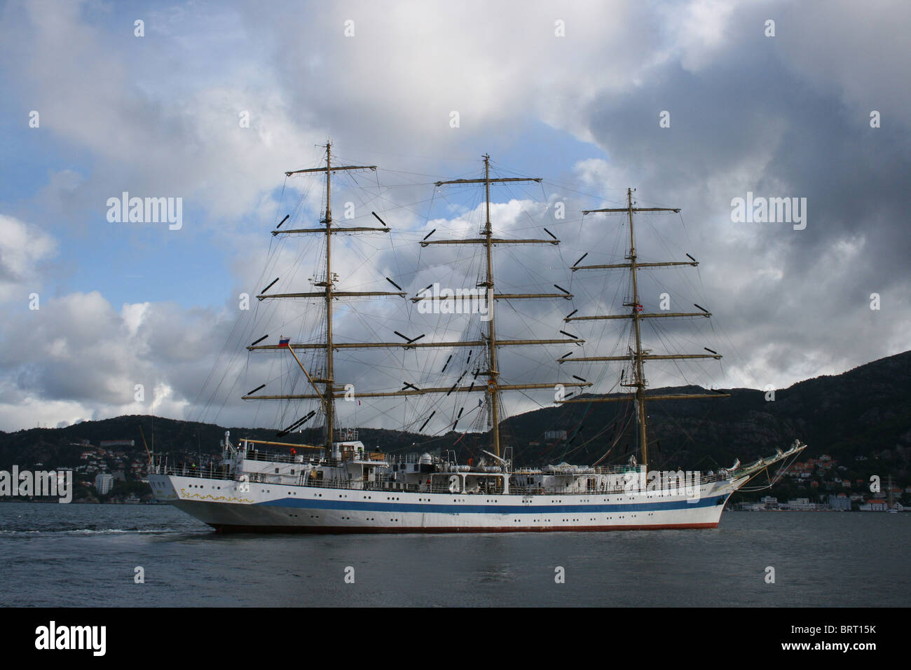 Mir, The Tall Ships Races 2008, Bergen - Stock Image
