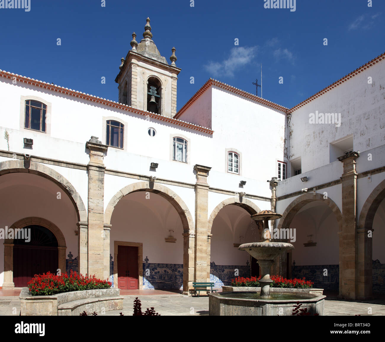 Torres Vedras Municipal Museum courtyard, Portugal - Stock Image