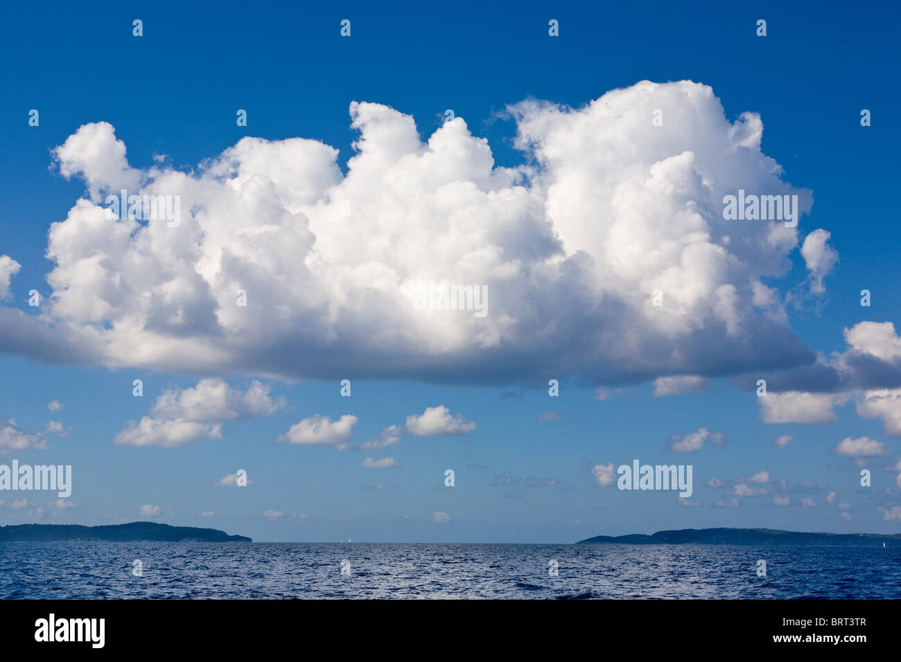 Clouds above Paxos and Antipaxos - Stock Image