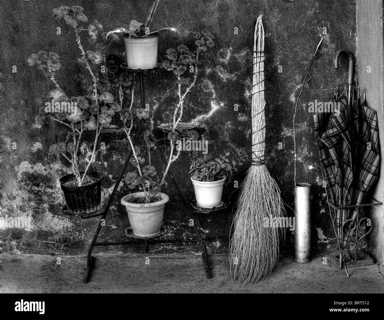 Old but well-known things whose have been long in use in European history.BW image - Stock Image