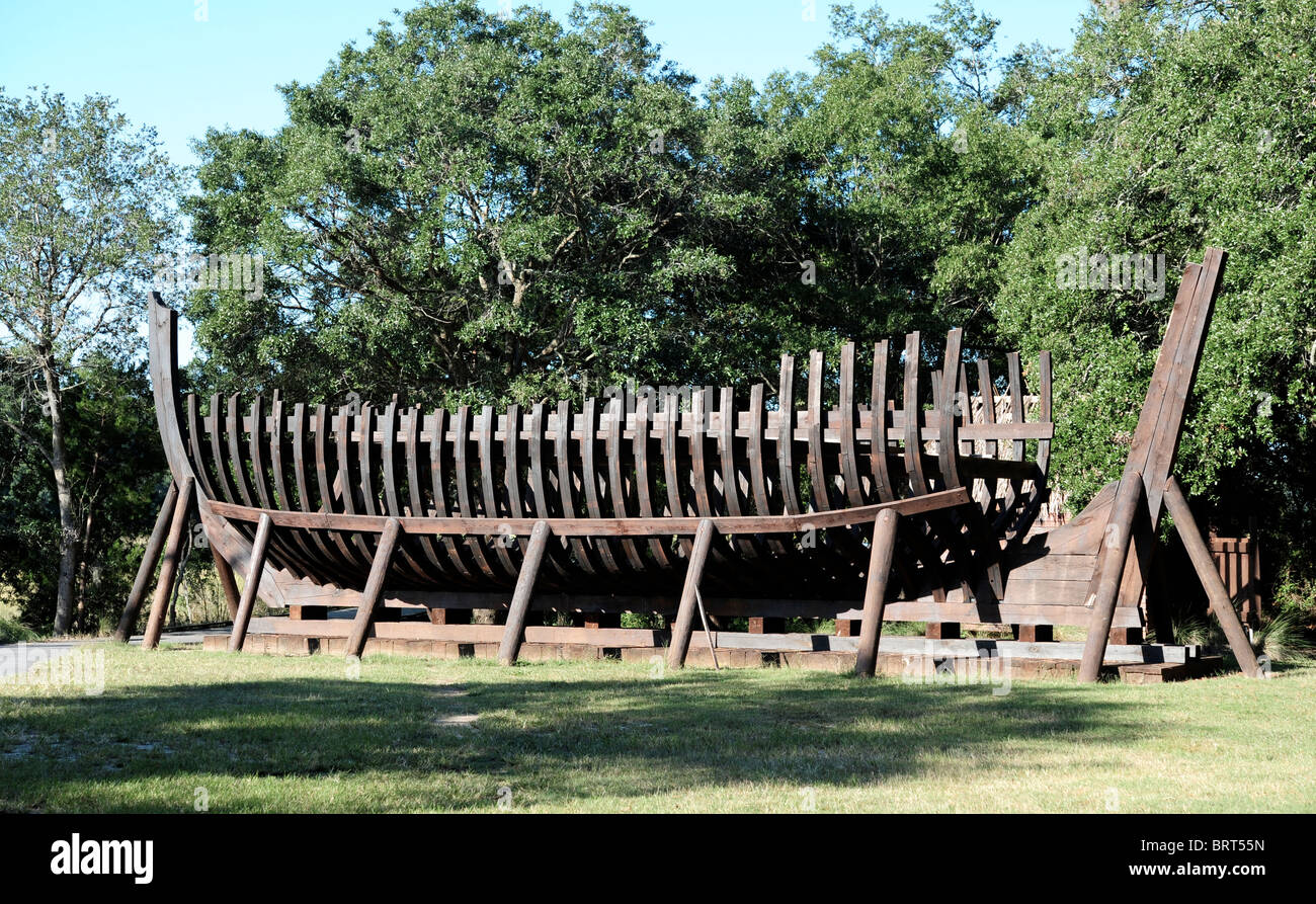Keel of 17th Century Trading Ship - Stock Image