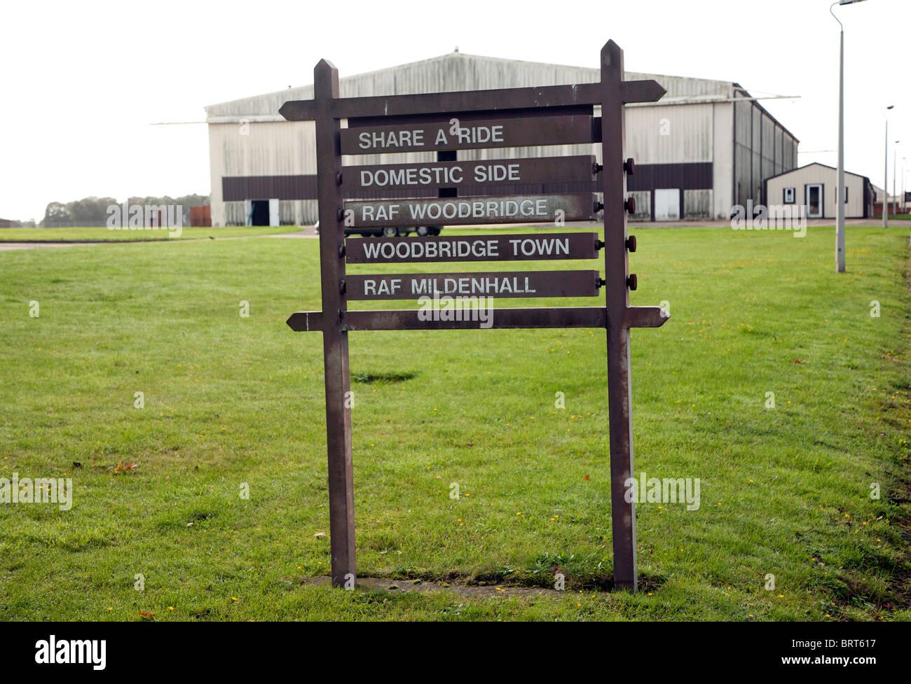 Former USAF RAF Bentwaters base, Suffolk, England - Stock Image