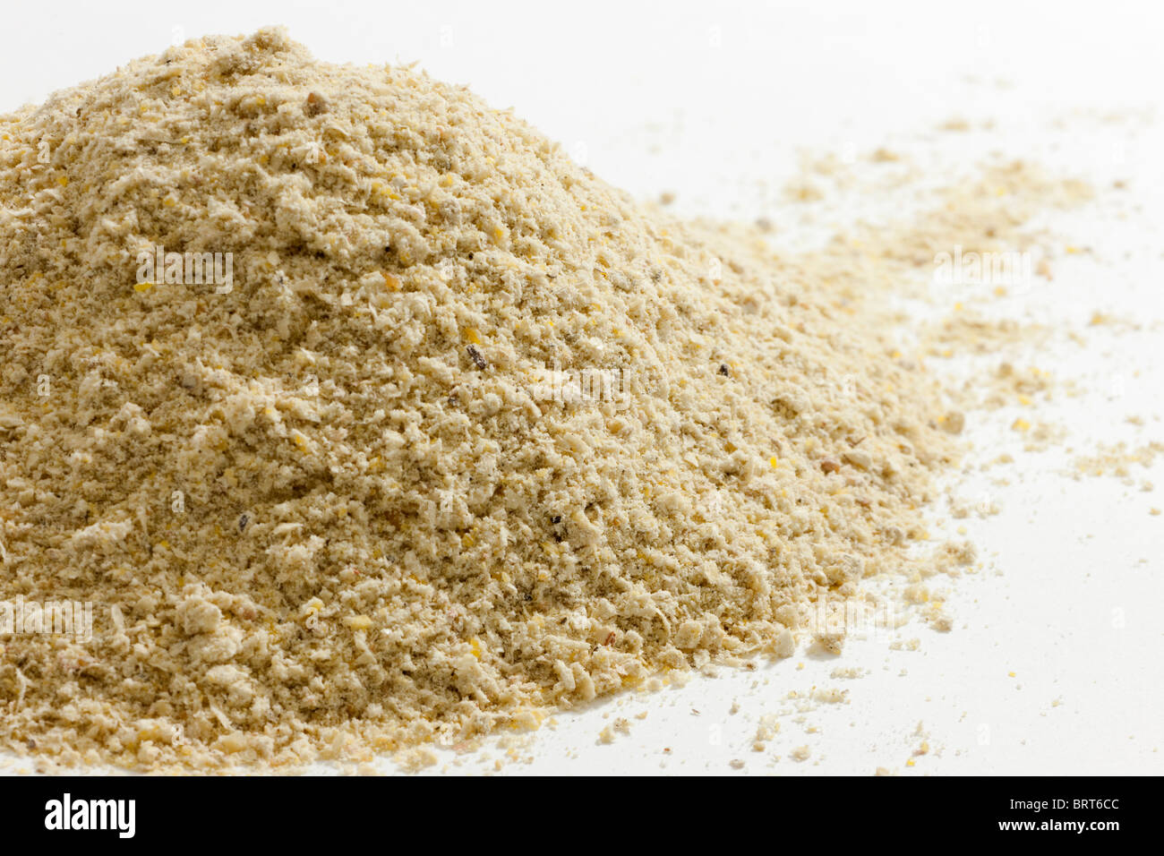 Pile of ground maize maizemeal - Stock Image