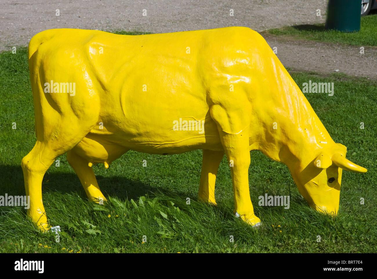yellow cow model stock photo 31880188 alamy