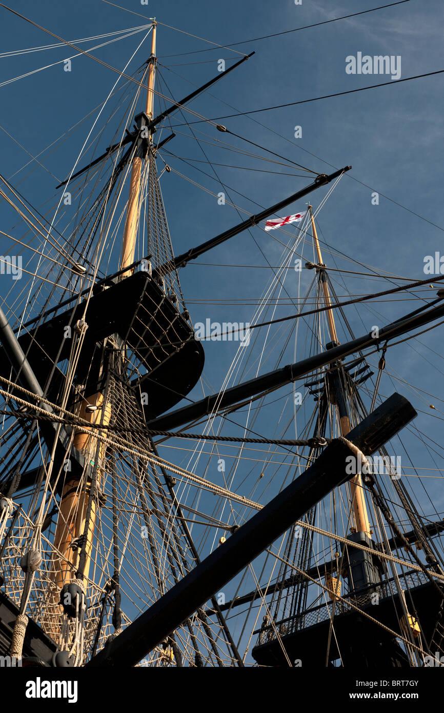HMS Victory, (Nelsons Flagship), HM Dockyard, Portsmouth, Hampshire, England, UK; - Stock Image