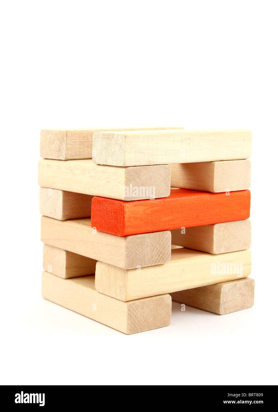 Toy wooden blocks - Stock Image