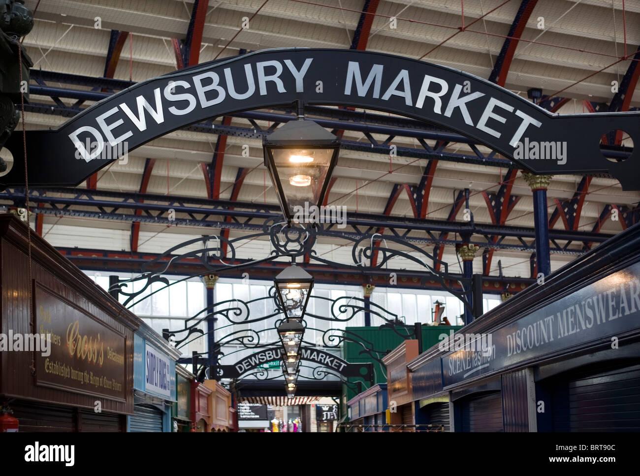 Dewsbury Market  West Yorkshire England UK - Stock Image