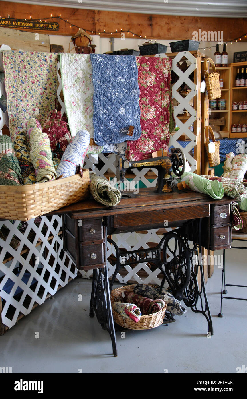 Country Store With Old Singer Sewing Machine, Connecticut, New England, USA