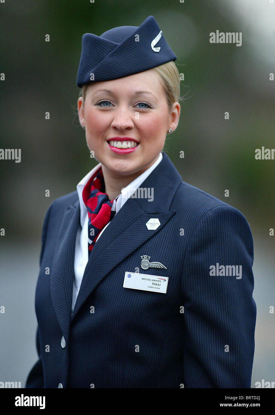 A British Airways Air Stewardess Picture By James