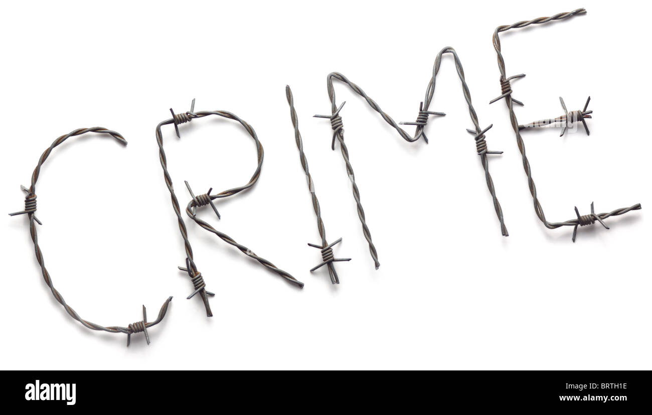 Barbwire crimeStock Photo