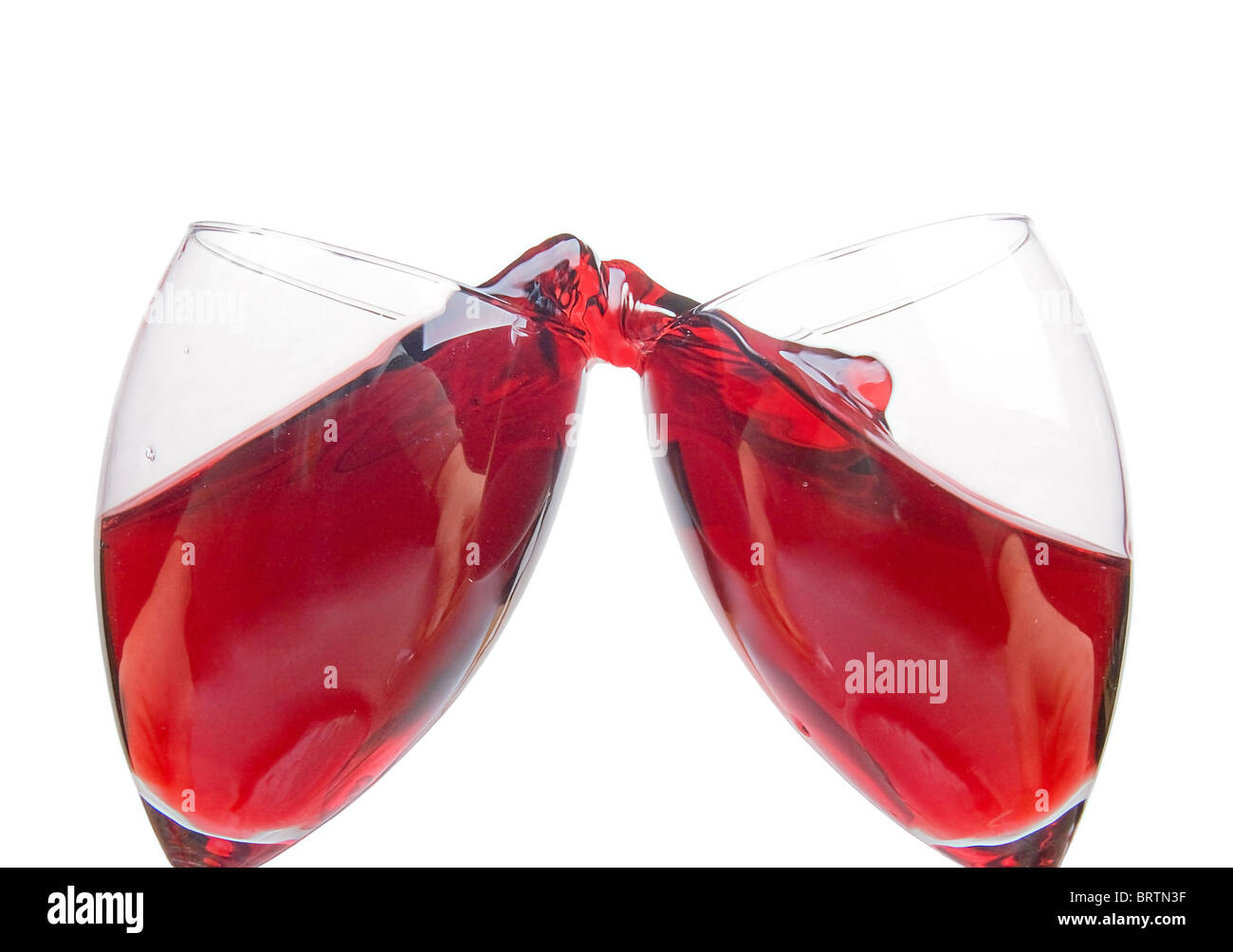 clink glasses - Stock Image