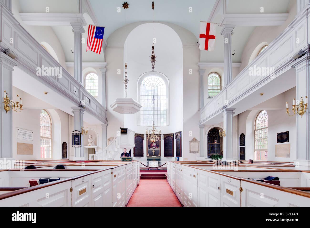 Old North Church, Boston, MA - Stock Image
