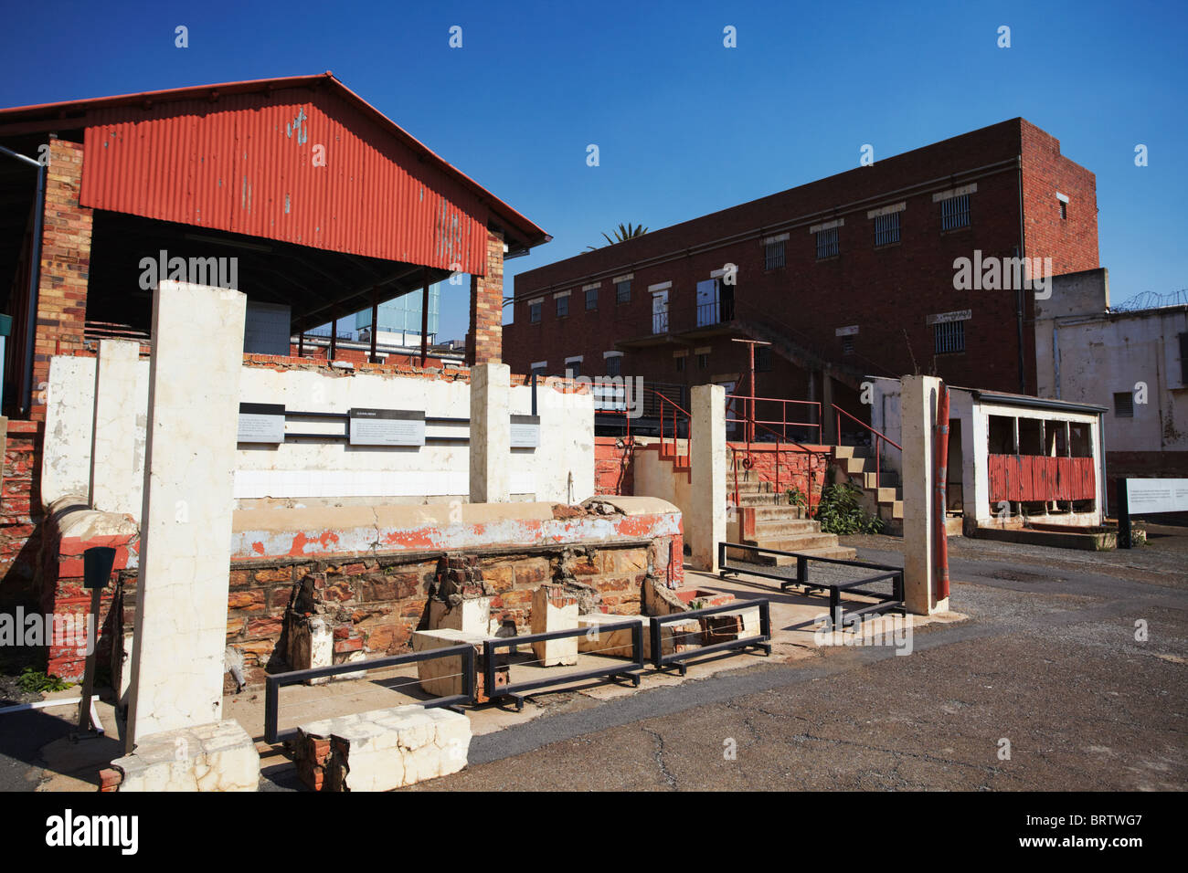 Interior of Constitution Hill (former Apartheid prison), Hillbrow, Johannesburg, Gauteng, South Africa - Stock Image
