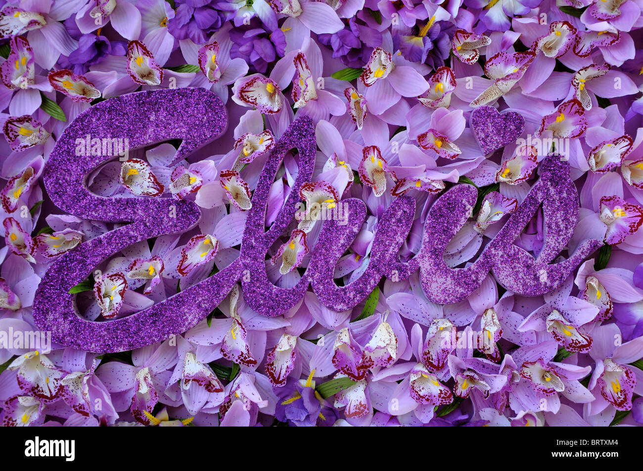 Elvis Presley floral tribute to celebrate his 75th birthday - Stock Image