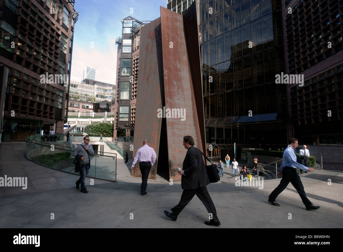 broadgate circle in the city of london - Stock Image