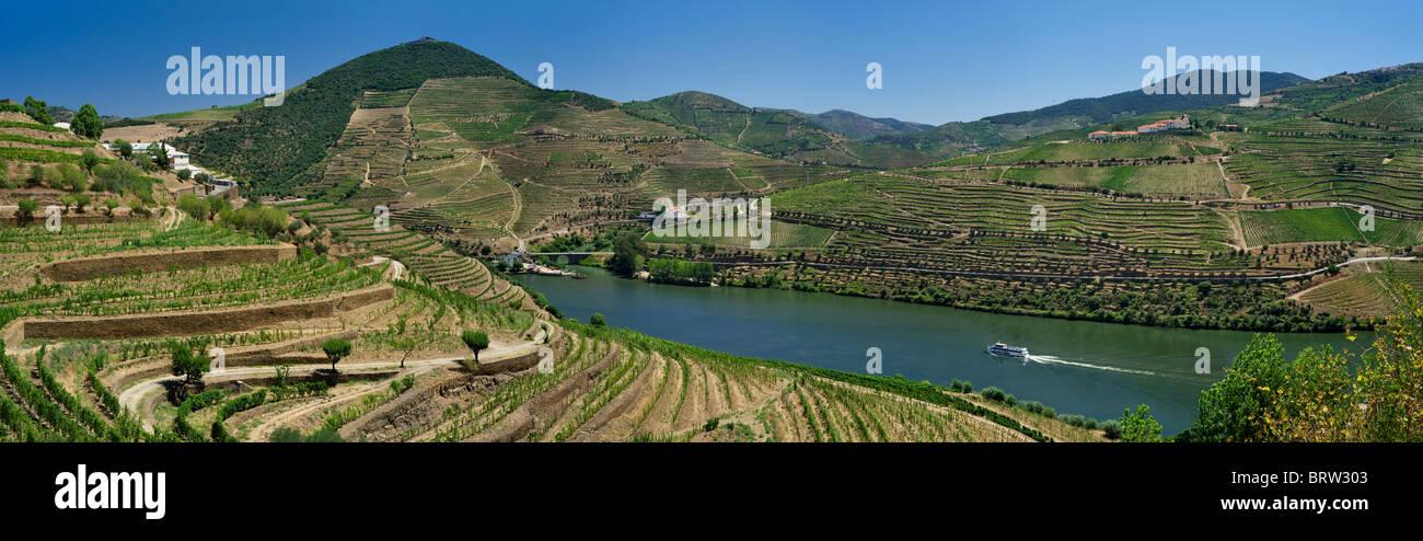 Portugal, the Alto Douro, the Douro valley, near Pinhao - Stock Image