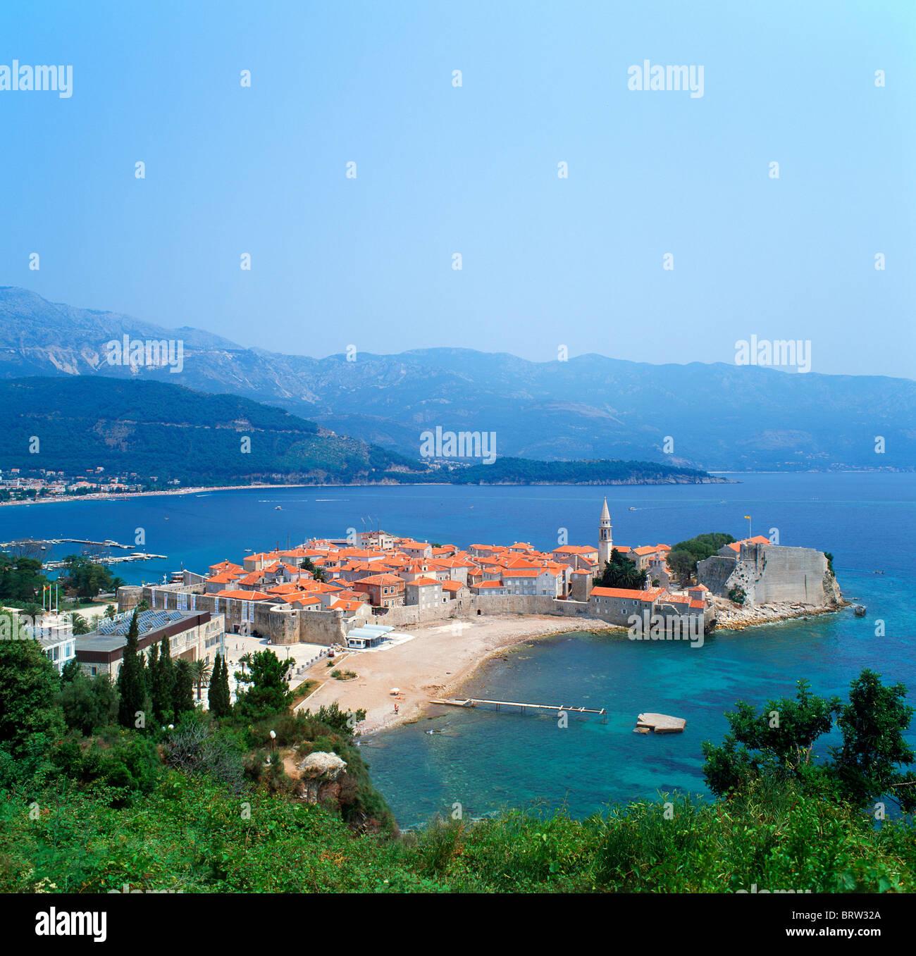 Old town, Budva, Montenegro Stock Photo