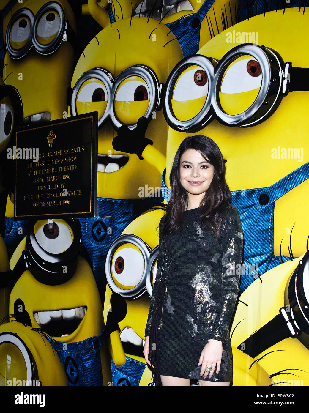 Miranda Cosgrove attends the UK Premiere of Despicable Me at The Empire Leicester Square, London, 11 October 2010. - Stock Image