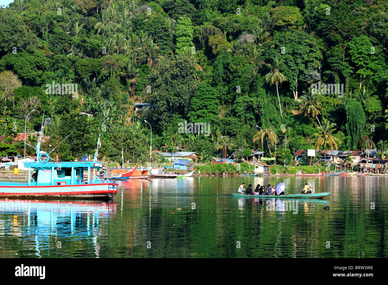 batang arau river padang sumatra indonesia - Stock Image