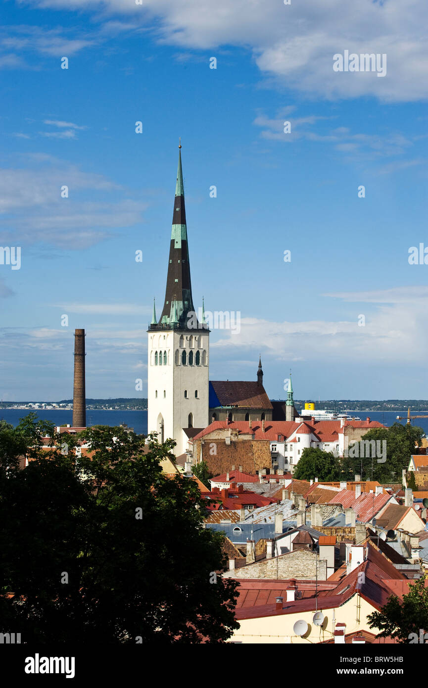 Olev Cathedral, Tallinn, Estonia, Baltic States - Stock Image