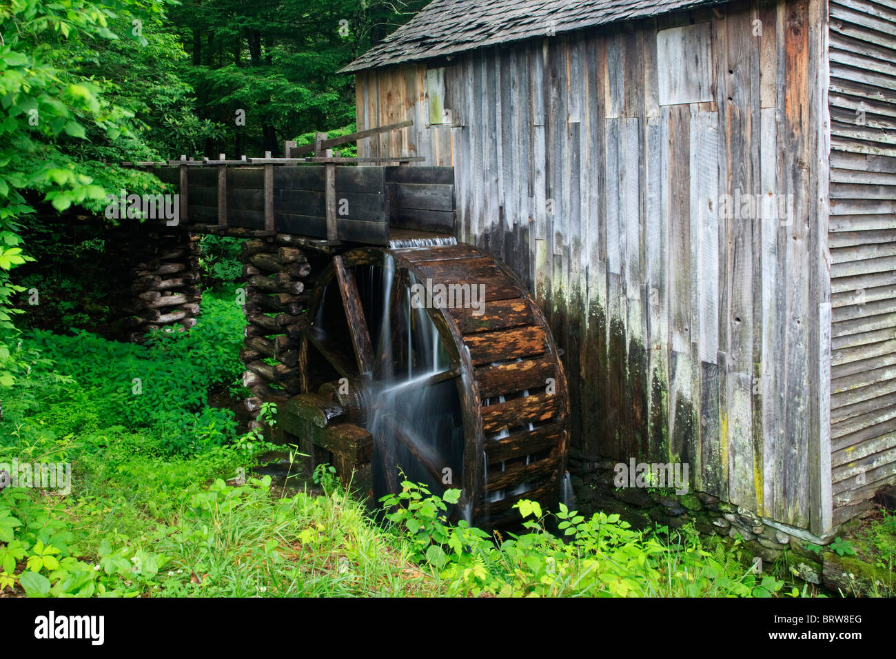 The John P Cable Grist Mills in the Great Smoky Mountains National Park USA - Stock Image