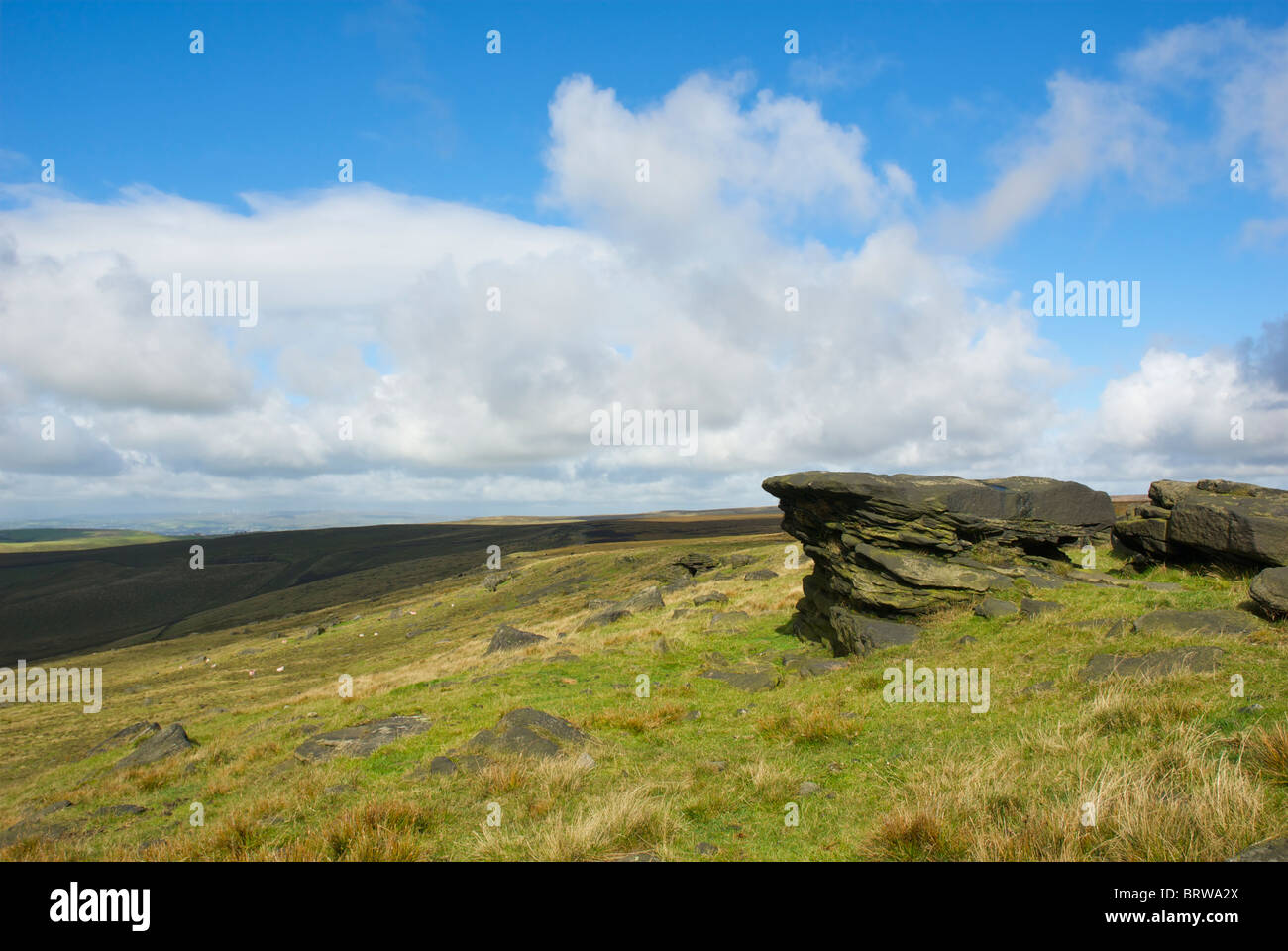 The Pennine Way at Standedge, West Yorkshire, England UK - Stock Image