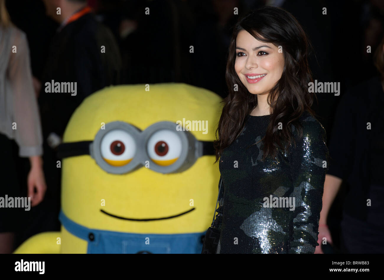 Miranda Cosgrove attends The European Premiere of ' Despicable Me ' at Empire Leicester Square on October - Stock Image