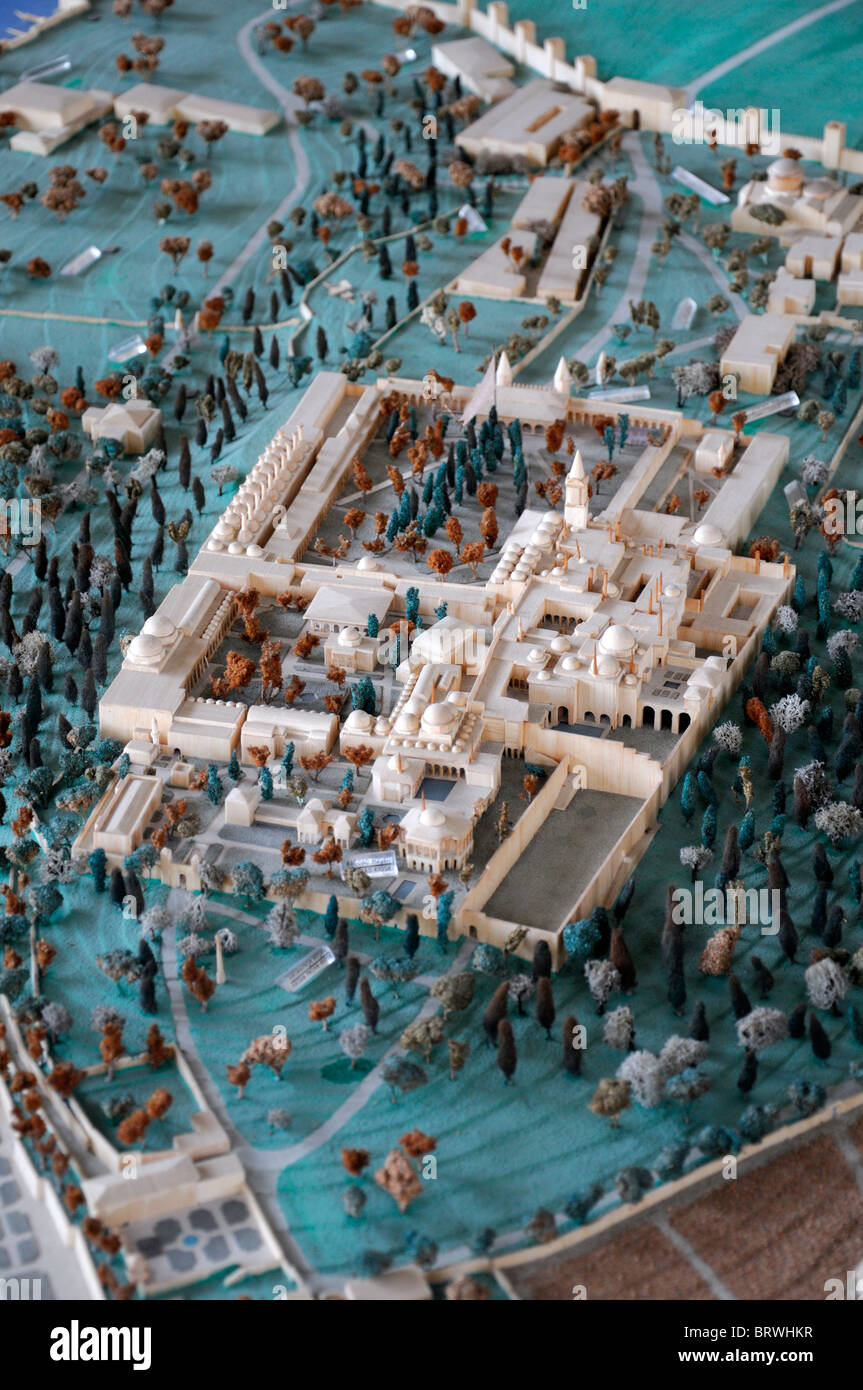 Topkapı Palace ottoman sultan residence istanbul turkey Scale model of the inner part of the palace (2nd-4th courtyards) - Stock Image