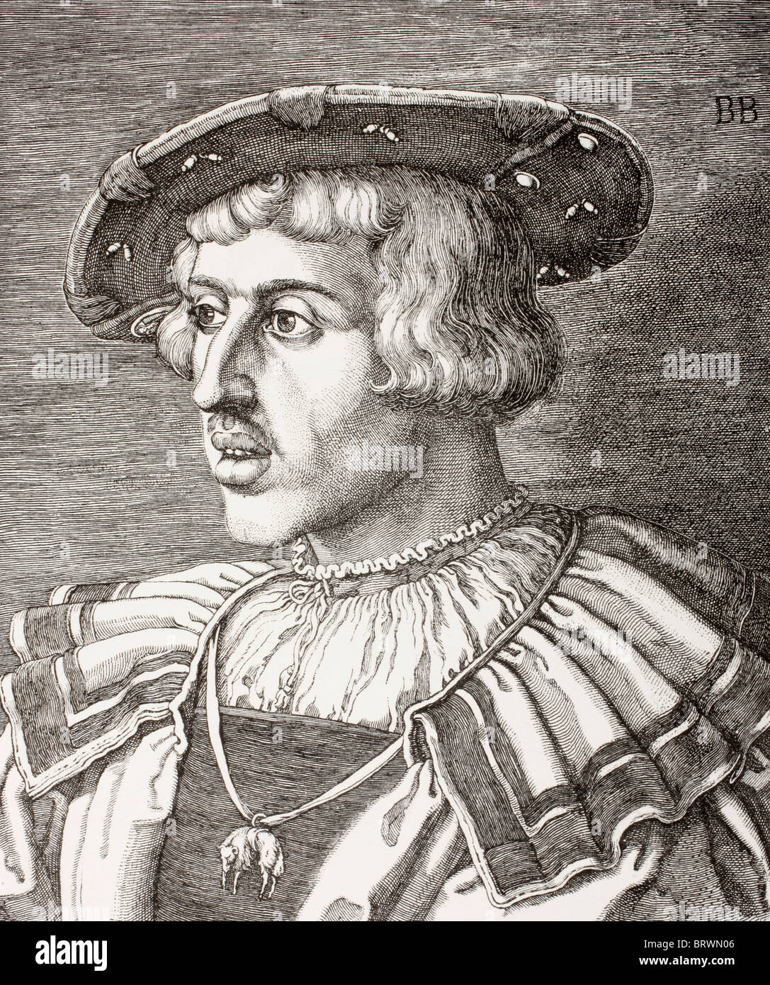 King Ferdinand I, 1503 – 1564. Monarch from House of Habsburg. Holy Roman Emperor. King of Bohemia and Hungary. - Stock Image