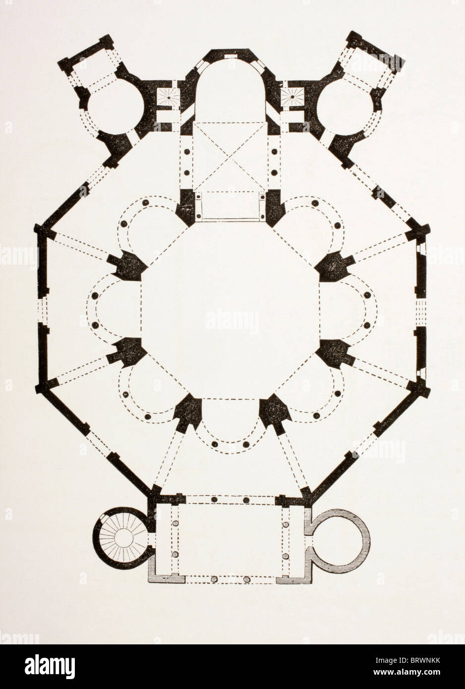 Floor Plan Of The 6th Century Byzantine San Vitale Church