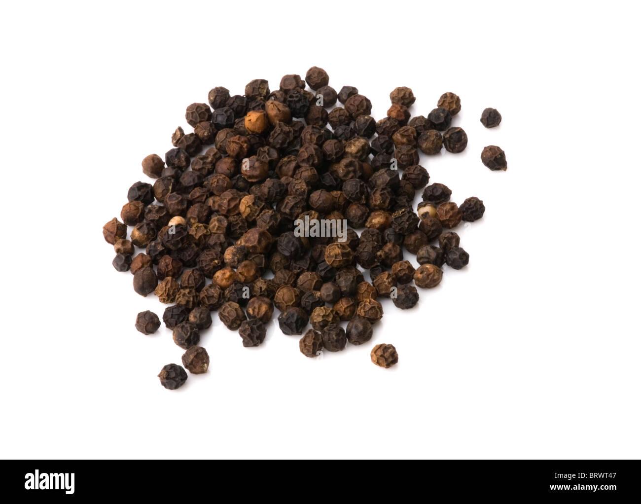 Black Peppercorns. - Stock Image